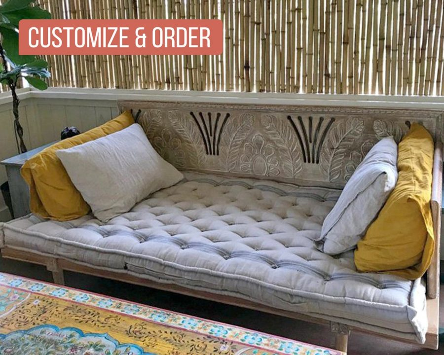 Home of Wool tufted daybed cushion