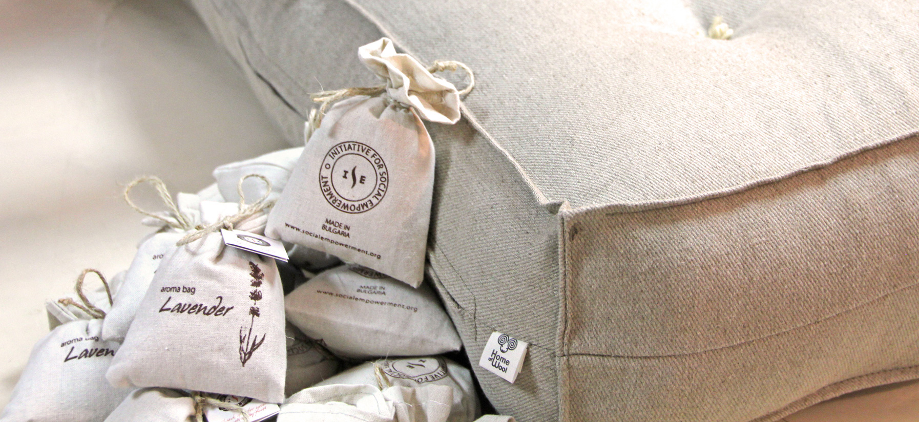 Home of Wool causes ISE lavander bags