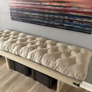 home of wool tufted-bench-cushion-non-piped-for-bachrk1-Etsy