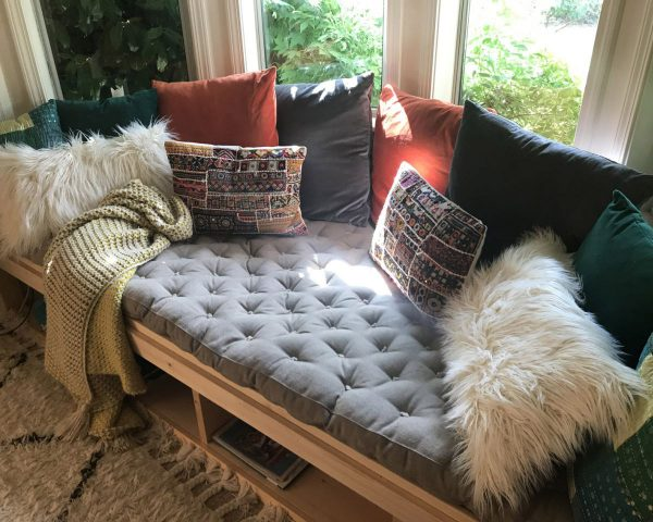 all-natural tufted wool-filled daybed cushion