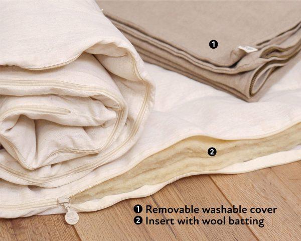 Home of Wool Wool Yoga Mat Feldenkrais Pad 4
