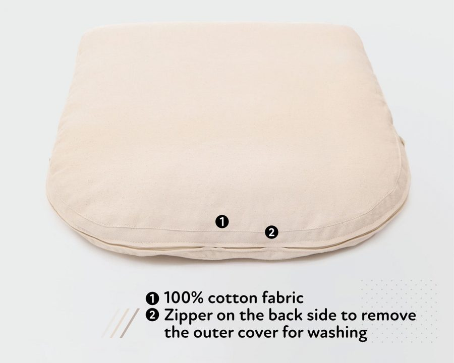 Home of Wool chair cushion with removable cover-features
