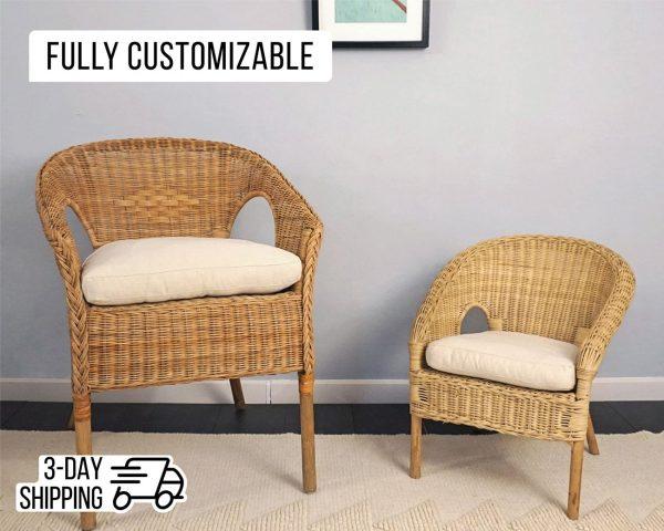 home of woo rattan chair cushion