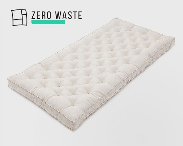 Home of Wool Wool-Filled Crib or Stokke Mattress With Stitched Fabric