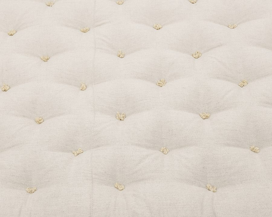 Home of Wool Wool-Filled Crib or Stokke Mattress With Stitched Fabric - stitch detail