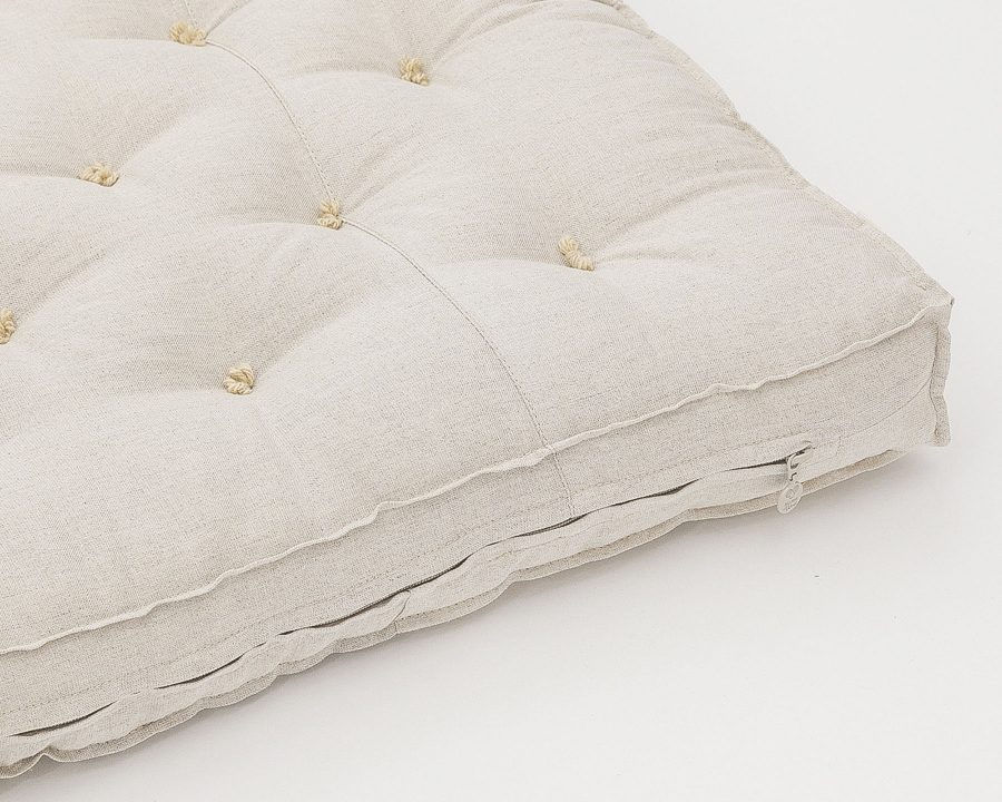 Home of Wool Wool-Filled Crib or Stokke Mattress With Stitched Fabric - zipper detail