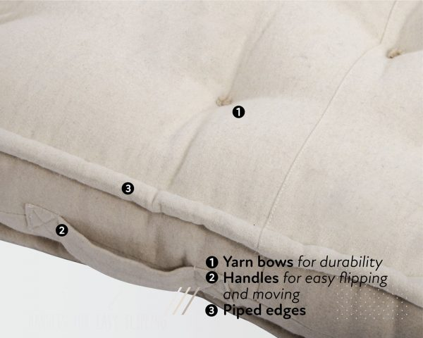 Home of Wool mattress with wool cover details