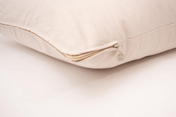 Home of Wool all-natural wool body pillow - zipper detail