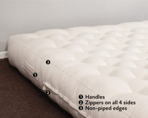 Home of Wool handmade wool mattress - features