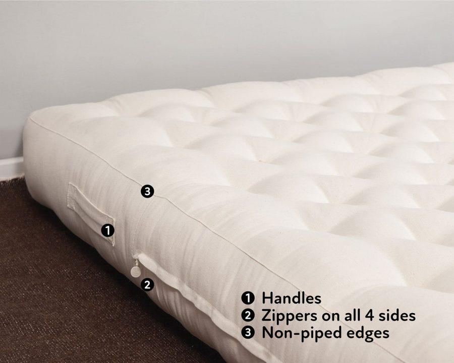 Home of Wool handmade wool mattress - features