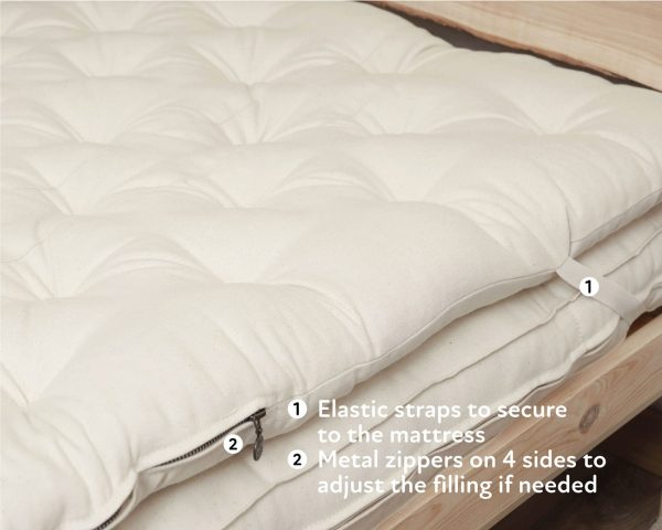 Home of Wool zero waste wool mattress topper-features