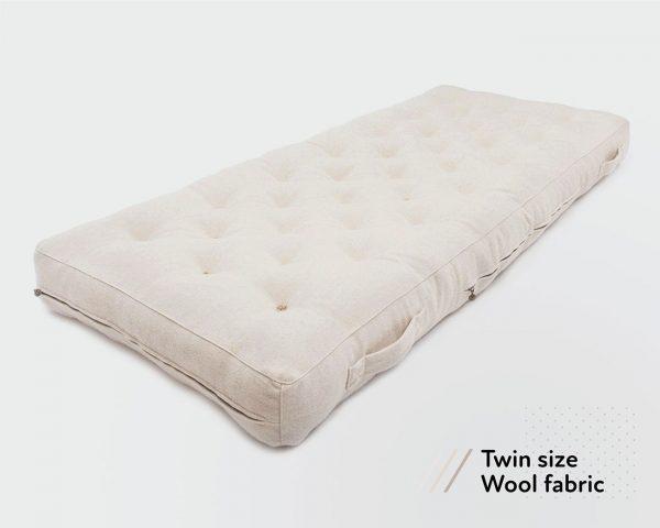 natural wool todler mattress (ikea sniglar) with handles