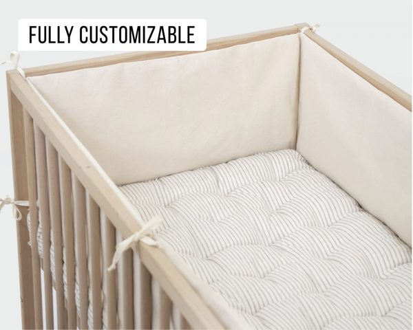 Home of Wool Wool-Filled Baby Crib Bumper