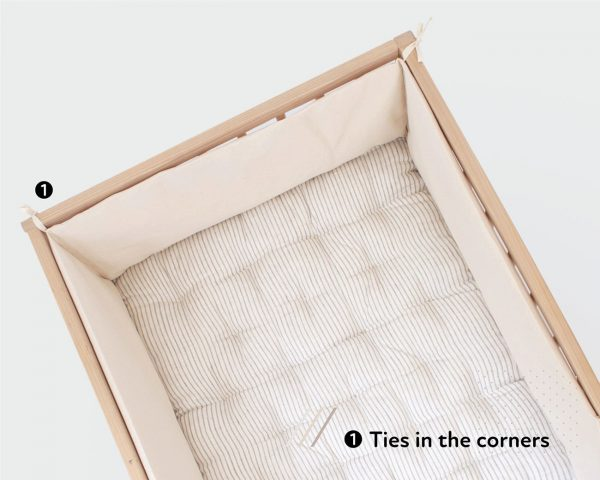 Home of Wool crib mattress with bumper - top