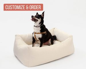 Home of Wool Natural Wool-Filled Pet Bed with Board L dog