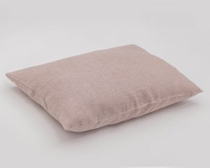 Natural 100% linen pillowcase with thin red stripes