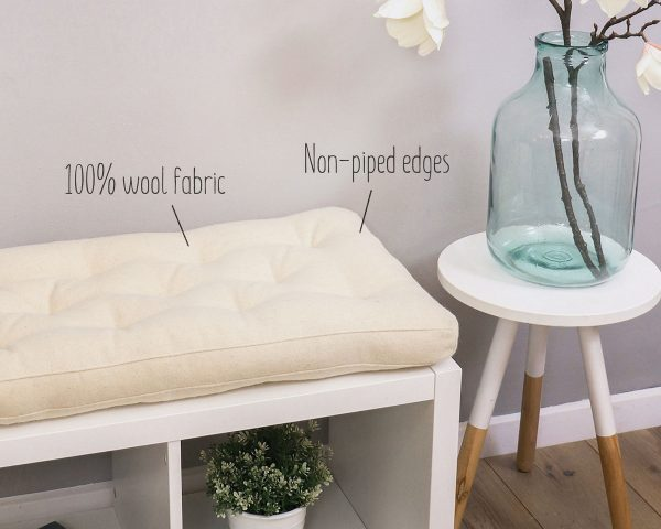 Home of Wool kallax bench cushion - with text