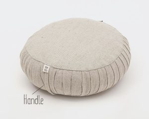 Home of Wool zafu yoga cushion with natural wool-filling