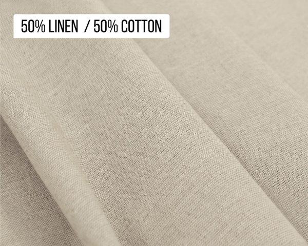 50% Linen 50% Cotton blend fabric