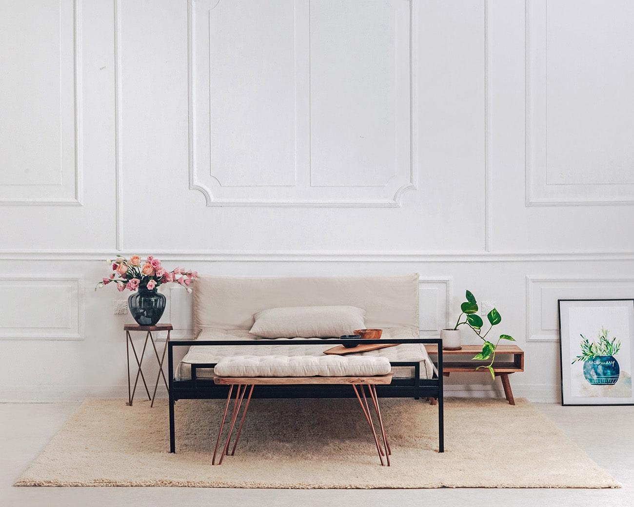 Home of Wool Handmade high pile wool rug - set up 2