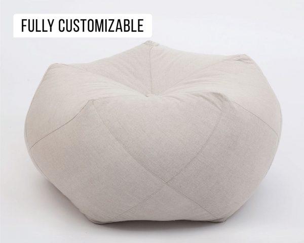 Home of Wool All-natural Custom-made Wool Pentagonal Ottoman Cushion