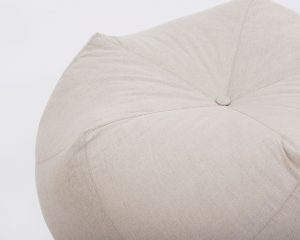 Home of Wool All-natural Custom-made Wool Pentagonal Ottoman Cushion - Edge detail