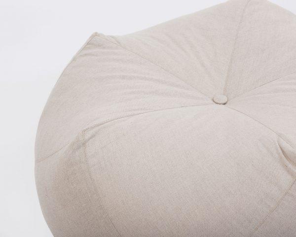 Home of Wool All-natural Custom-made Wool Pentagonal Ottoman Cushion - Edge detail