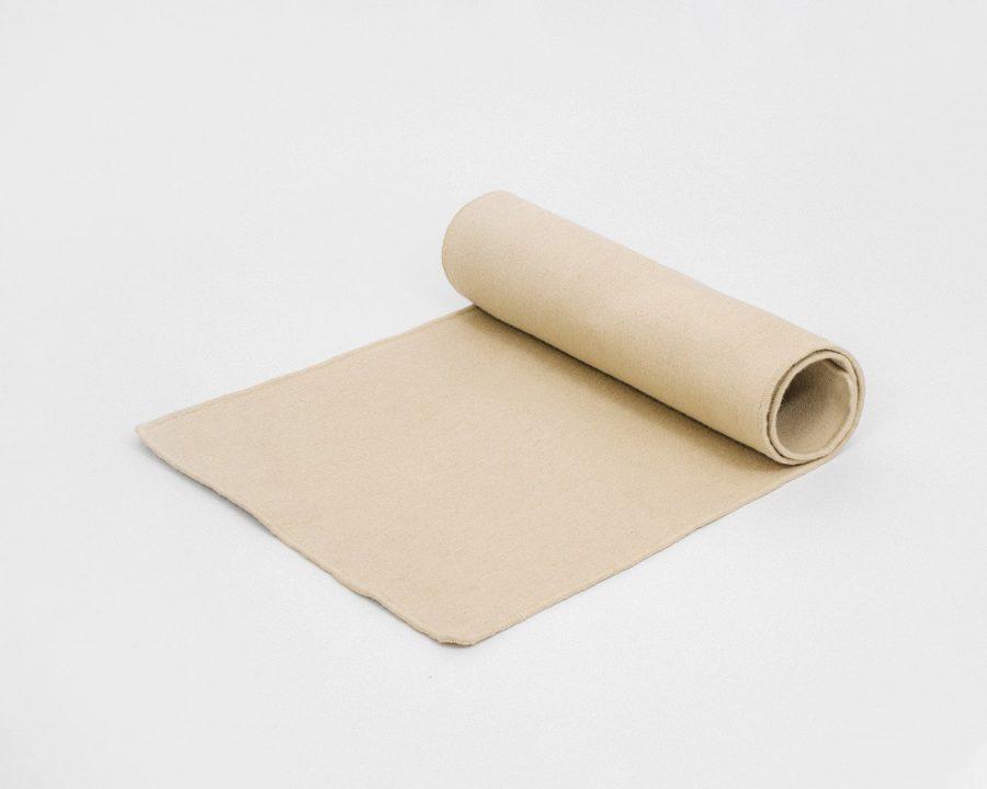 Home of Wool Natural Wool Yoga Mat - Natural cream color 2