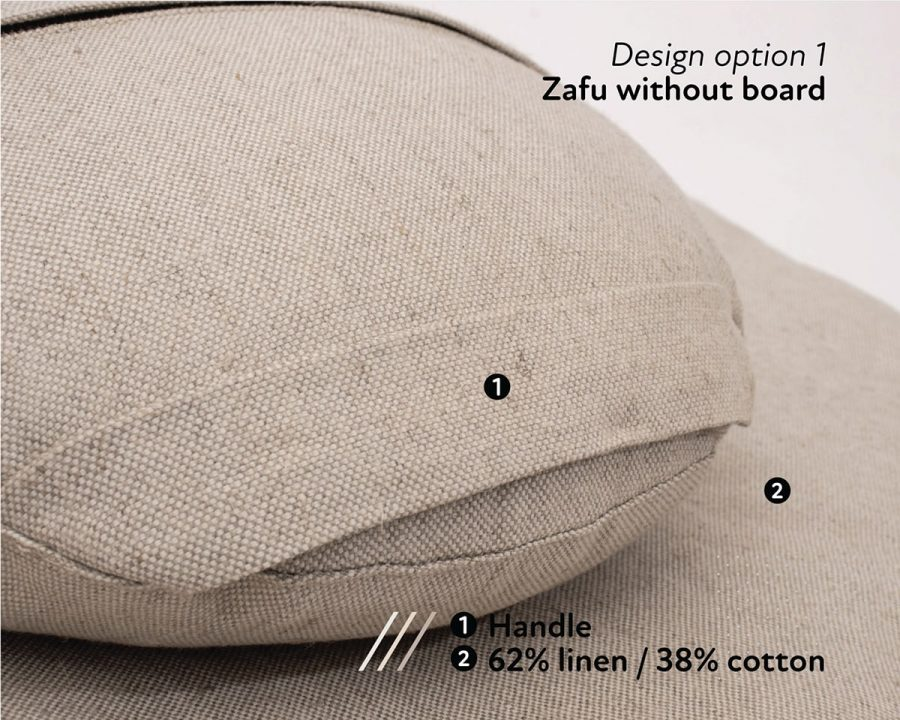 Home of Wool wool-filled meditation cushions - jute fabric cover - texture detail