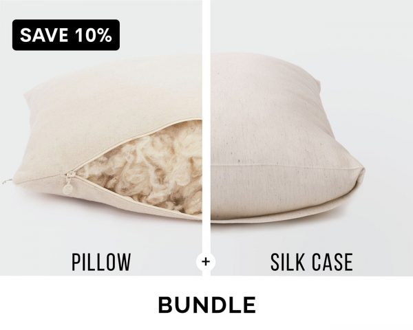 Home of Wool bundle - sleeping pillow and pillowcase