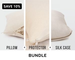 Home of Wool bundle - sleeping pillow, pillow protector and pillowcase