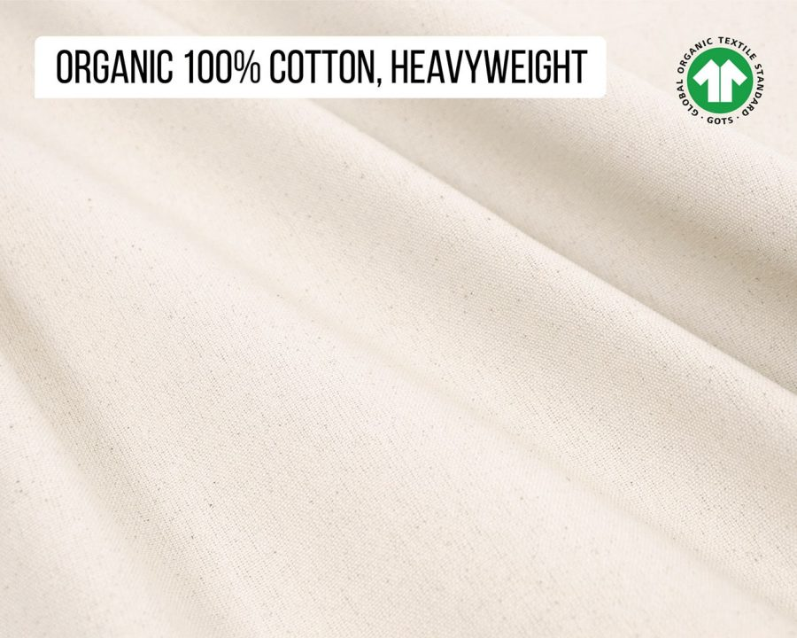 Home of Wool 100% cotton fabric gots certified