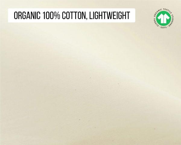 Home of Wool gots certified organic cotton fabric - lightweight