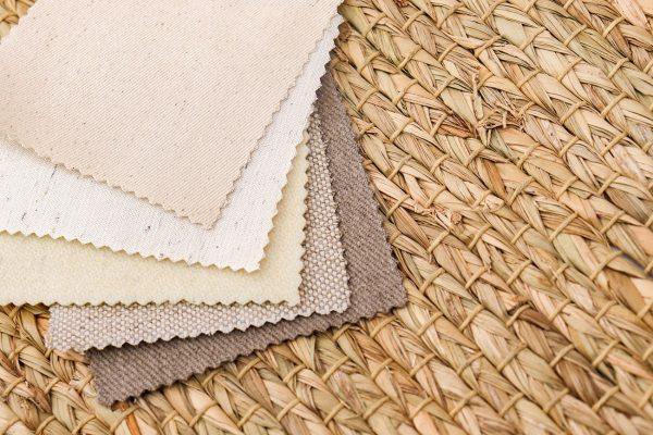 Home of Wool montessori fabrics box - fabrics lined up detail