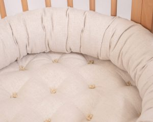 Home of Wool all-natural wool bed snake pillow - close up