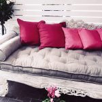 custom-made wool-filled tufted daybed cushion
