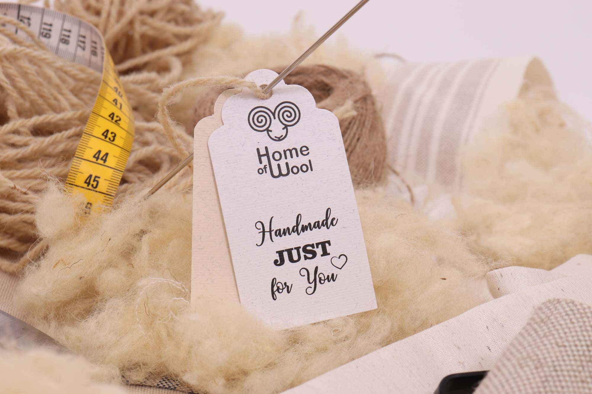 Home of Wool - wool and handmade just for you tag