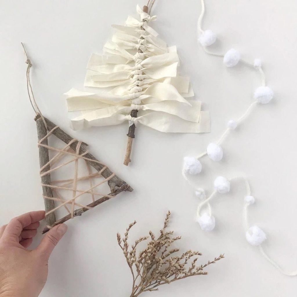 Holidays Go Zero Waste - handmade Christmas decorations