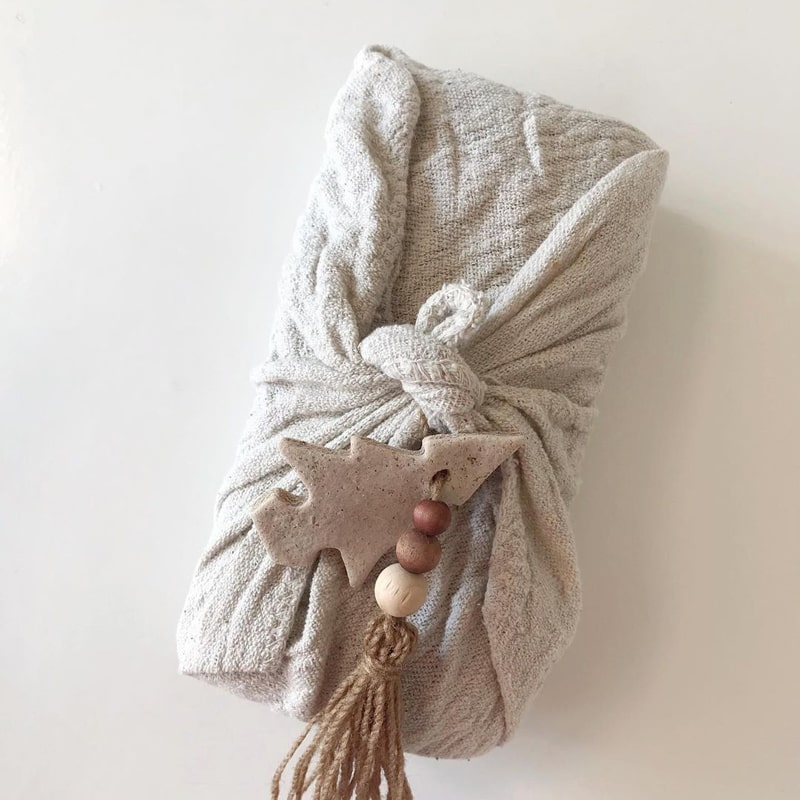 Holidays Go Zero Waste - gift wrapped in a muslin cloth