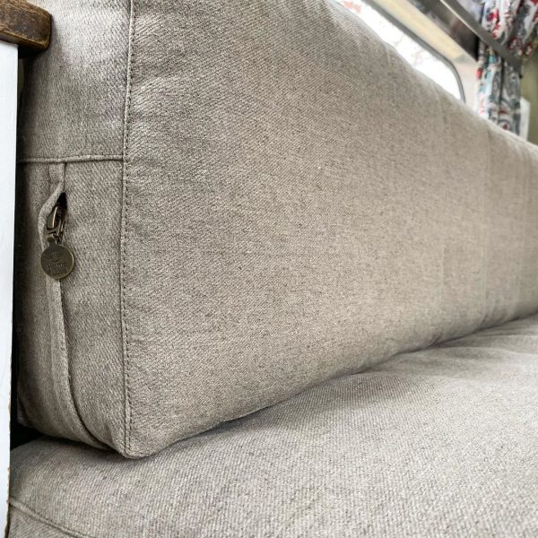 Home of Wool Cushion with Removable Cover For RVs, Campers, Trailers - fabric detail