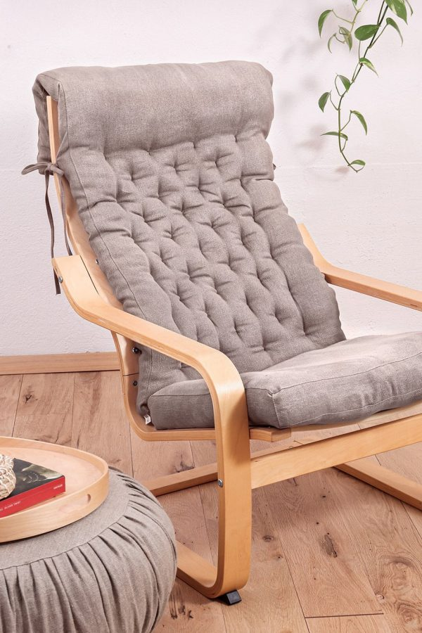 Home of Wool poang chair cushion in setting (2)