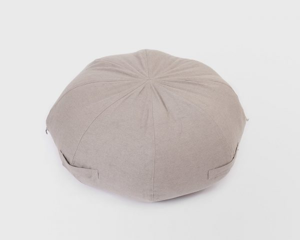 Home of Wool round ottoman cushion