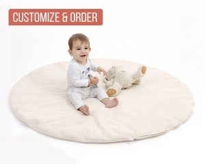 Home of Wool round play mat