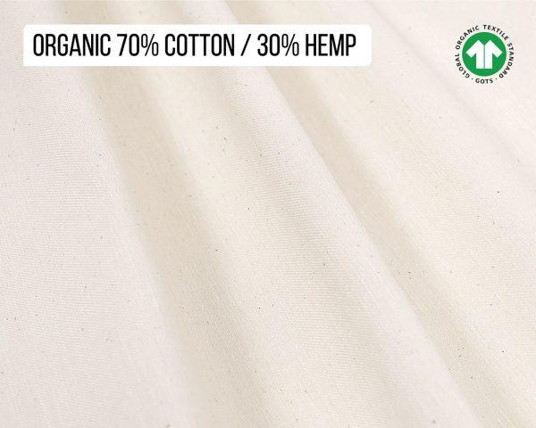 Home of Wool 70% Cotton 30% Hemp blend fabric (GOTS certified)