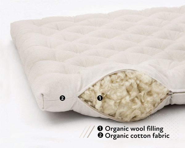 Home of Wool Organic Wool Crib Topper - features