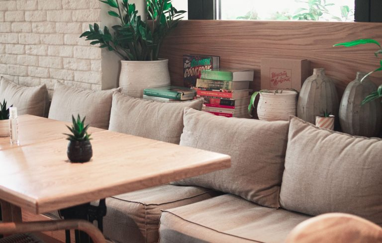 The Home of Wool Cushions at Balev Bio Café